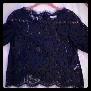 JOIE LACE THREE QUARTER SLEEVE TOP